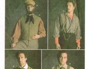 Mens Gilet Vest Hat Suspenders Victorian Civil War Fashion Historian Simplicity 5037 Sewing Pattern Reenactment Size 38 40 42 4 46 48 50 52