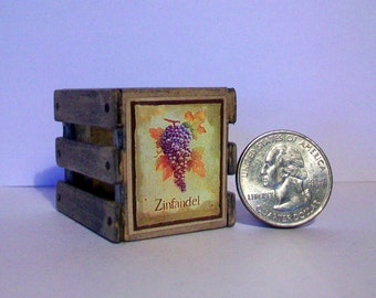 Mini Zinfandel Wine Crate  1:12 scale