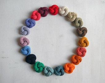 Men's lapel pin. Knot buttonhole - Cotton boutonniere. Men accessories. Choose your own color.