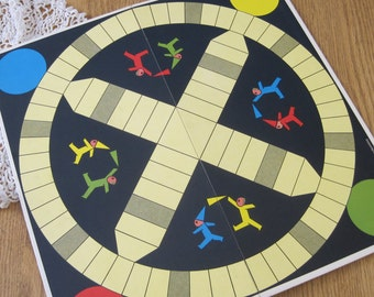 Vintage 1974 Ravensburg Retro Pachisi Foldable Game Board