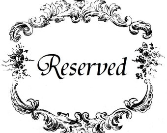 Reserved Listing for krivera31