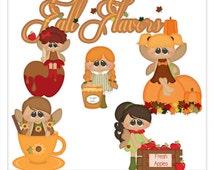 CLIP ART SALE Flavors of Fall Fairies Exclusive Clip Art by Kristi W. Designs