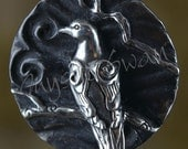 Spirit Dove Fantasy Pendant with Tube Bail in Sterling Silver