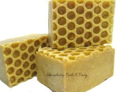 Honeycomb Natural Soap - organic honey, skin nourishing olive oil, pure essential oils
