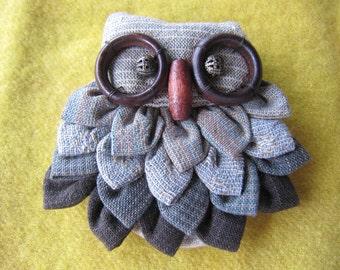 Primitive OWL Brooch
