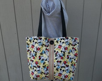 Mickey and Minnie Mouse Shoulder Tote Bag