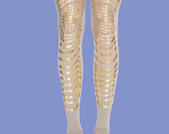 Tattoo leggings Goldfish graphic printed stockings available in S-M, L-XL