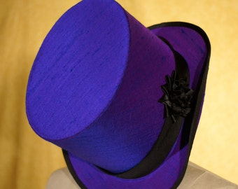Purple Silk Top Hats----Completely Hand Sewn