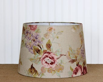 Shabby Chic Lamp Shade - Lamp Shade - Floral Lamp Shade - Lampshade - Drum Shade - Cottage - Nursery