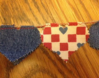 Flippy Flirty Heart Pennant for Valentines or Anytime