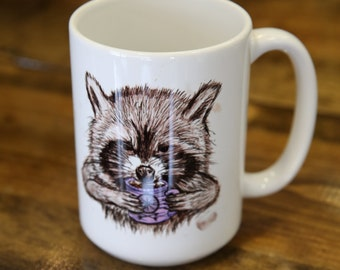 Raccoon Coffee and Tea Mug