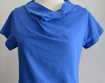 Cowl T in Royal Blue