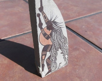 Indian-or-Primitive-Style-Painted-Stones-Signed-Tiomoteo 3
