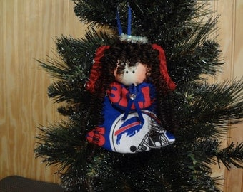 Buffalo Bills fabric angel ornament #1