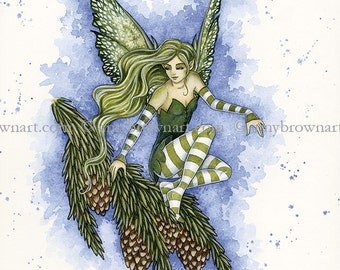 Evergreen fairy 8.5x11 PRINT by Amy Brown