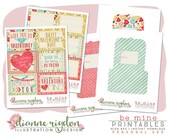 Printable Valentines and Envelopes - .PDF - PERSONAL Use - Instant Download-High Res-Digital -