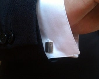 Personalized Cufflinks Sterling Silver, with initials, personalised monograms or symbols