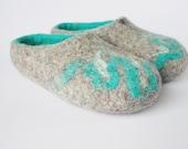 Wool felt slippers-felted wool clogs-natural wool slippers-wool clogs natural-grey felt slippers-felted men women slippers-unisex felt shoe