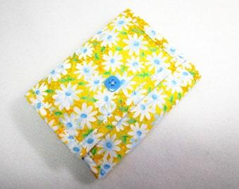Daisies Yellow Handmade Women's Wallet / Fabric Billfold / 11 Pockets