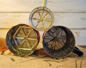 Vintage Flour Sifter, Brass Flour Sifter, Kitchen Decor, Vintage Farmhouse Decor, Vintage Kitchen Decor