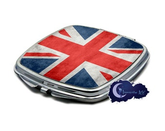 Union Jack Grunge British Flag  Compact Mirror