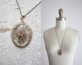 vintage still life necklace