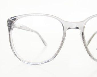 1980s Mens Wayfarer Eyeglasses Stetson Glasses Deadstock Light Grey Smoke USA American Made 80s Eighties Sunglasses Sunnies 80s