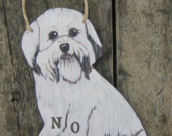 LHASA APSO  Custom Dog Sign - No Soliciting/Remove Shoes Sign/Welcome - Original Hand Painted Wood