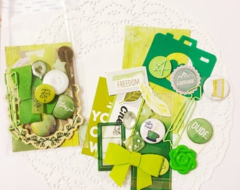 Embellishment Grab Bags: Green