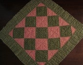 Primitive Antique 1890 - 1910 Amish Checkerboard Quilt Block - Lancaster County PA