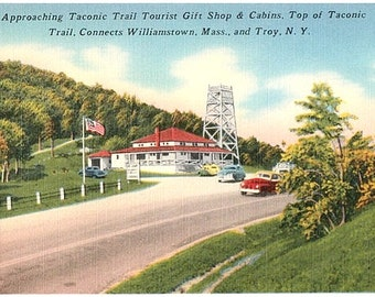 Taconic Trail Vintage Postcard - Taconic Trail Gift Shop & Cabins (Unused)