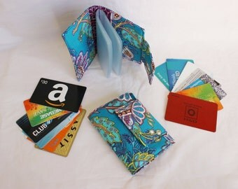 card holder wallet - loyalty card holder - loyalty card organizer - small brag book - business card holder - small wallet - coupon organizer