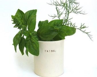 fresh  ...  hand built porcelain vessel   ...   herb container