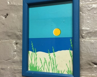 Vintage Framed Beach Print