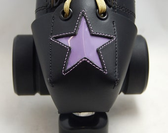 Leather Toe Guards with Purple Patent Leather Stars