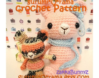 amigurumi bunny crochet pattern, stuffed plush kawaii zakka bunny rabbits free diy pattern, please see description for detail