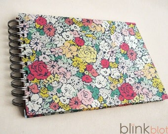 Birthday Interview Book Journal for girl -cottage bouquet paper cover