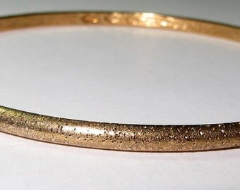 "Sterling Silver & 18K Gold - CHARLES GARNIER Bangle 10g - Bracelet (7.5"")"