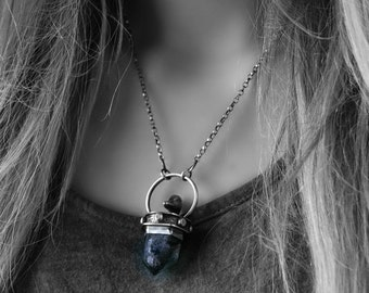 On the Surface - Smoky Quartz Phantom Sterling Silver Necklace