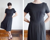 1950s Alison Ayres Black Dress - M/L