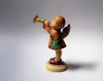 Vintage Hummel Standing Cherub w/ Horn ~ Germany ~ Figurine