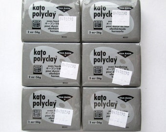 Polymer Clay, Kato Polyclay, Making Mold Silver 2 oz. Bar, Set of 6, Modeling Clay, Polymer Clay