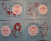 4 Vintage Tag Lines Make Good Conversation Placemats Mid Century Quotes