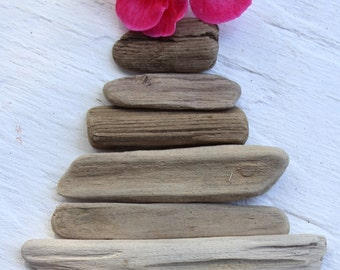 Graduated driftwood Pieces for DIY Beach Ornaments , Jewelry ,Driftwood Art and Coastal Home Decoration G7