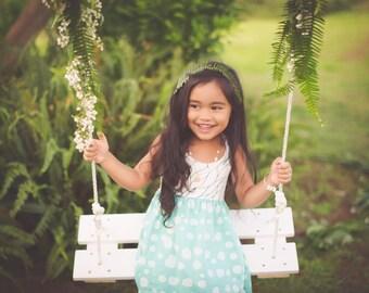 Girl's Dress - Halter Style Dress with Pink Tassels - Toddler Dress - Little Girl Dress - Children's Clothing -Handmade Boutique Style