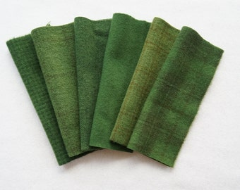 Green Hand Dyed and Felted Wool Fabric Number 6020C Perfect for Quilting, Applique, Rug Hooking and Sewing by Quilting Acres