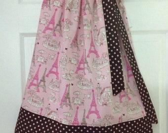 Ready to Ship!  Size 6 Paris Pillowcase Dress