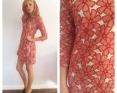 Vintage DVF Embroidered Floral Shift Dress