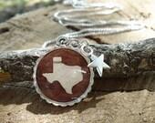 Texas Birch Bark Necklace - Rustic Birch Necklace