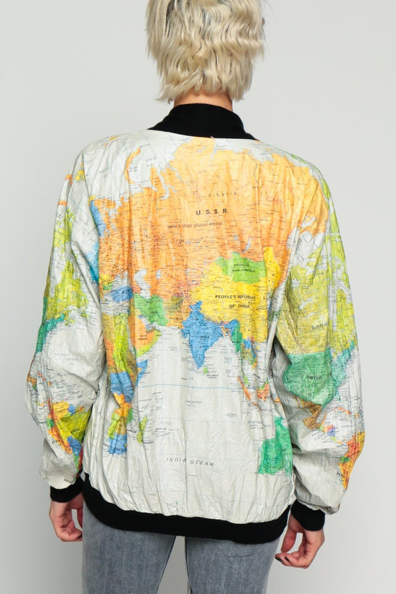 World map jacket 90s tyvek coat ussr windbreaker plastic 80s for sales and promotions follow us here instagram shopexile facebookshopexile world map jacket gumiabroncs Images